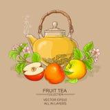 Τσάι της Apple teapot Στοκ Εικόνες