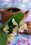 Τσάι της Jasmine κινεζικό teapot Στοκ Εικόνα