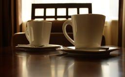τσάι τρία πιατακιών φλυτζανιών Στοκ φωτογραφίες με δικαίωμα ελεύθερης χρήσης