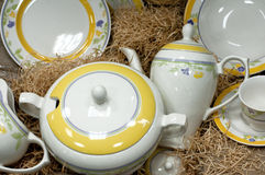 τσάι υπηρεσιών τεμαχίων Στοκ Φωτογραφία