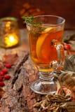 Τσάι φθινοπώρου με την πιπερόριζα στοκ φωτογραφία με δικαίωμα ελεύθερης χρήσης