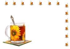 τσάι φλυτζανιών ανασκόπηση Στοκ φωτογραφία με δικαίωμα ελεύθερης χρήσης