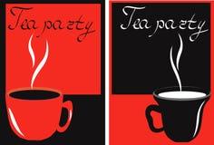 τσάι φλυτζανιών εμβλημάτων  Στοκ φωτογραφίες με δικαίωμα ελεύθερης χρήσης