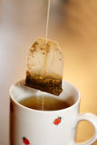 τσάι φλυτζανιών κινηματογραφήσεων σε πρώτο πλάνο Στοκ φωτογραφία με δικαίωμα ελεύθερης χρήσης