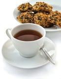 τσάι φλυτζανιών μπισκότων Στοκ φωτογραφίες με δικαίωμα ελεύθερης χρήσης