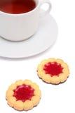 τσάι φλυτζανιών μπισκότων Στοκ φωτογραφία με δικαίωμα ελεύθερης χρήσης