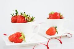τσάι φραουλών Στοκ Εικόνες