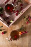 Τσάι φρούτων με το κεράσι Στοκ φωτογραφίες με δικαίωμα ελεύθερης χρήσης