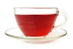 Τσάι φρούτων στο φλυτζάνι γυαλιού Στοκ φωτογραφία με δικαίωμα ελεύθερης χρήσης