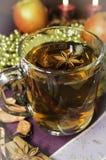 Τσάι Χριστουγέννων με τα καρυκεύματα Στοκ Εικόνες