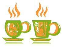 τσάι δύο φλυτζανιών Στοκ Φωτογραφία