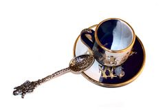 τσάι 2 φλυτζανιών Στοκ εικόνα με δικαίωμα ελεύθερης χρήσης