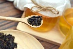Τσάι Kombucha, υγιή ζυμωνομμένα τρόφιμα, Probiotic ποτό διατροφής στοκ εικόνες