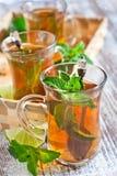 Τσάι Turlish με τη μέντα Στοκ φωτογραφία με δικαίωμα ελεύθερης χρήσης