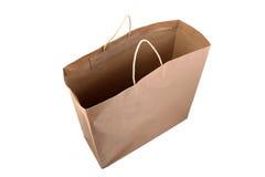 Τσάντα αγορών καφετιού εγγράφου στοκ φωτογραφία