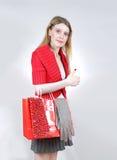 Τσάντα αγορών κοριτσιών Στοκ εικόνες με δικαίωμα ελεύθερης χρήσης