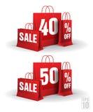 Τσάντα αγορών που τυπώνεται με σαράντα και πενήντα Στοκ φωτογραφία με δικαίωμα ελεύθερης χρήσης