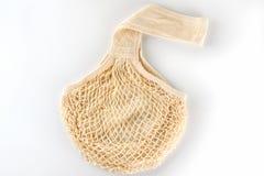 Τσάντα αγορών σειράς καμβά παντοπωλείων tote στο άσπρο υπόβαθρο στοκ εικόνες