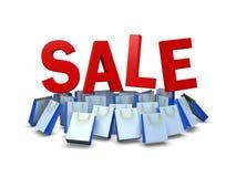 Τσάντα αγορών στην προώθηση πώλησης, πορεία ψαλιδίσματος συμπεριλαμβανόμενη Στοκ Εικόνες