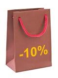 Τσάντα αγορών 10 τοις εκατό Στοκ εικόνα με δικαίωμα ελεύθερης χρήσης