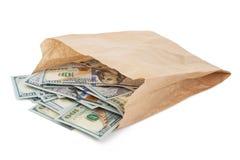 Τσάντα εγγράφου με τα χρήματα Στοκ εικόνα με δικαίωμα ελεύθερης χρήσης
