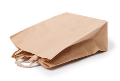 τσάντα εγγράφου με τη λαβή Στοκ Εικόνα