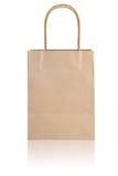 Τσάντα εγγράφου στην άσπρη ανασκόπηση Στοκ Φωτογραφία
