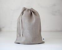 Τσάντα λινού που απομονώνεται στοκ φωτογραφία