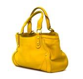 τσάντα κίτρινη Στοκ Εικόνες