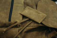 Τσάντα και πορτοφόλι δέρματος Χειροτεχνία και υψηλός - ποιότητα του δέρματος Στοκ Εικόνες