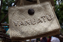 Τσάντα με τα θαλασσινά κοχύλια Στοκ Εικόνες