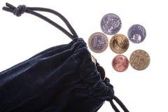 Τσάντα με τα νομίσματα Στοκ Φωτογραφίες