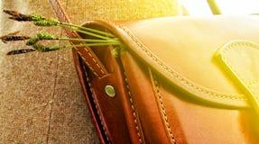 Τσάντα με τα χορτάρια Στοκ Εικόνες