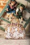 Τσάντα μόδας σε φυσικό Στοκ Εικόνες