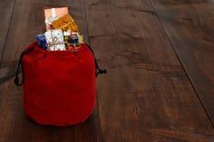 Τσάντα παιχνιδιών Santa Στοκ Εικόνα