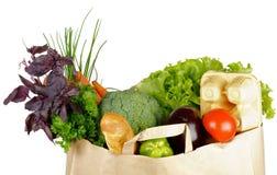 τσάντα που τρώει τις υγιείς αγορές Στοκ εικόνες με δικαίωμα ελεύθερης χρήσης
