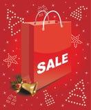 Τσάντα πώλησης Χριστουγέννων Στοκ φωτογραφία με δικαίωμα ελεύθερης χρήσης