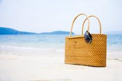 Τσάντα στην άμμο Στοκ φωτογραφίες με δικαίωμα ελεύθερης χρήσης