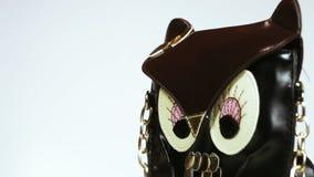 Τσάντα στην κουκουβάγια μορφής απόθεμα βίντεο