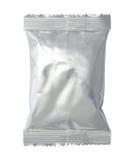 Τσάντα συσκευασίας φύλλων αλουμινίου που απομονώνεται στο λευκό Στοκ Φωτογραφίες