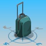Τσάντα ταξιδιού isometric Στοκ φωτογραφίες με δικαίωμα ελεύθερης χρήσης