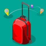 Τσάντα ταξιδιού isometric Στοκ εικόνα με δικαίωμα ελεύθερης χρήσης