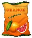 Τσάντα του αφυδατωμένου πορτοκαλιού Στοκ Εικόνες