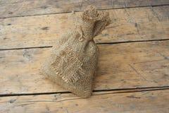 Τσάντα του υφάσματος λινού Στοκ εικόνα με δικαίωμα ελεύθερης χρήσης