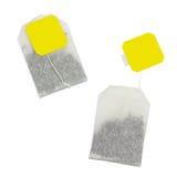 Τσάντα τσαγιού με την κίτρινη ετικέτα χωρίς επιγραφή Στοκ εικόνες με δικαίωμα ελεύθερης χρήσης