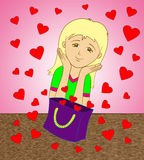 Τσάντα των καρδιών Στοκ εικόνα με δικαίωμα ελεύθερης χρήσης