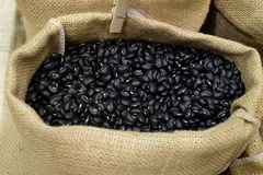 Τσάντα των μαύρων φασολιών Στοκ Εικόνες