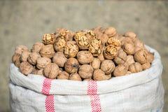 Τσάντα των ξύλων καρυδιάς στην ιρανική αγορά Στοκ φωτογραφίες με δικαίωμα ελεύθερης χρήσης