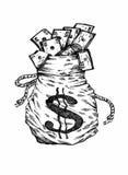 Τσάντα των χρημάτων απεικόνιση αποθεμάτων