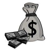 Τσάντα χρημάτων διανυσματική απεικόνιση